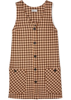 Paul & Joe Baydere Houndstooth Wool Mini Dress