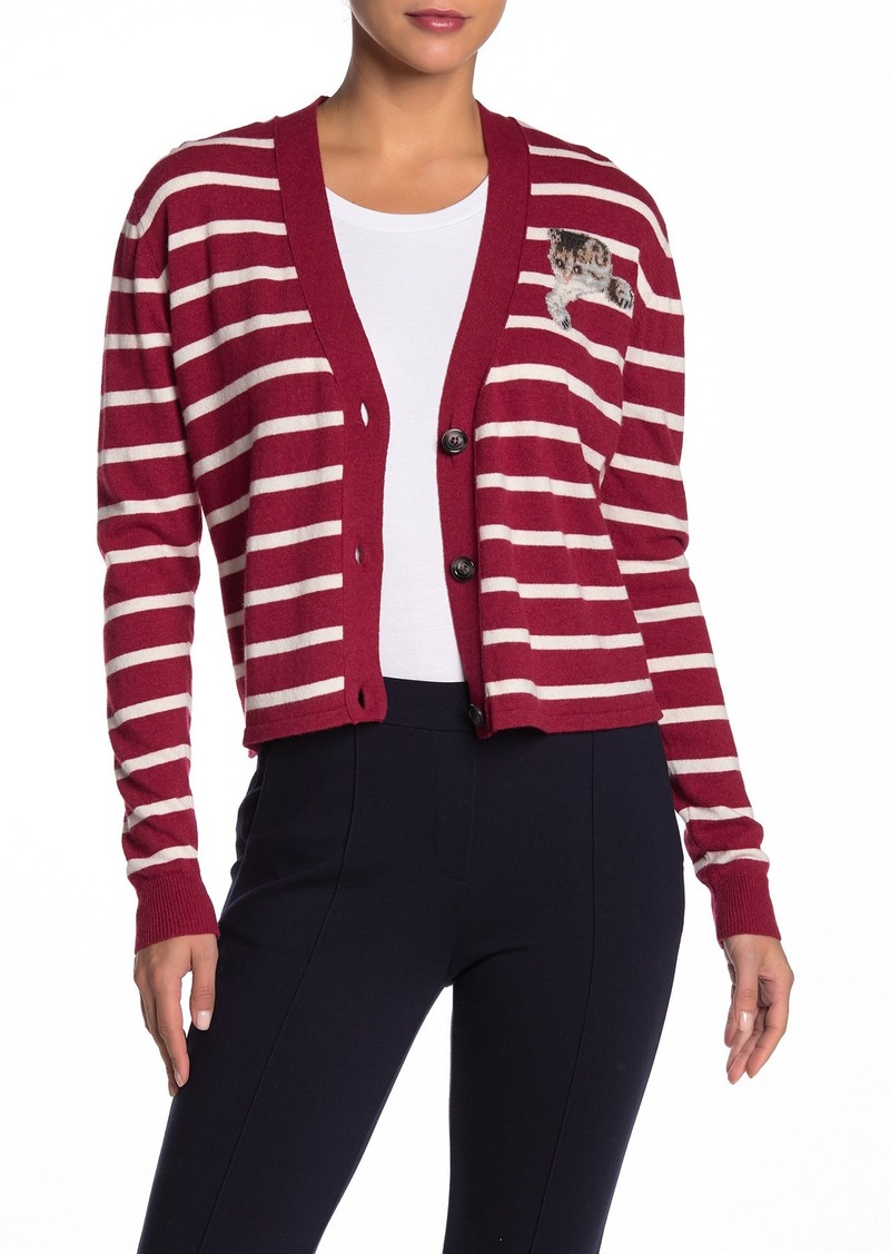 Paul & Joe Bebe Striped Cat Cardigan