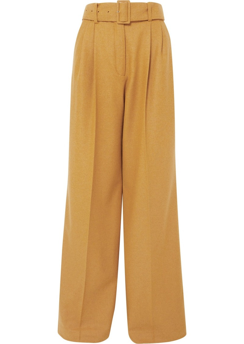 Paul & Joe Belted Wool-blend Wide-leg Pants