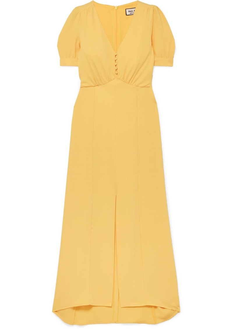 Paul & Joe Bichette Gathered Crepe Maxi Dress