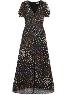 Paul & Joe Broceliande Floral-print Flocked Twill Dress