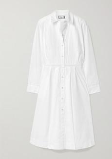 Paul & Joe Broderie Anglaise-trimmed Stretch-cotton Poplin Dress