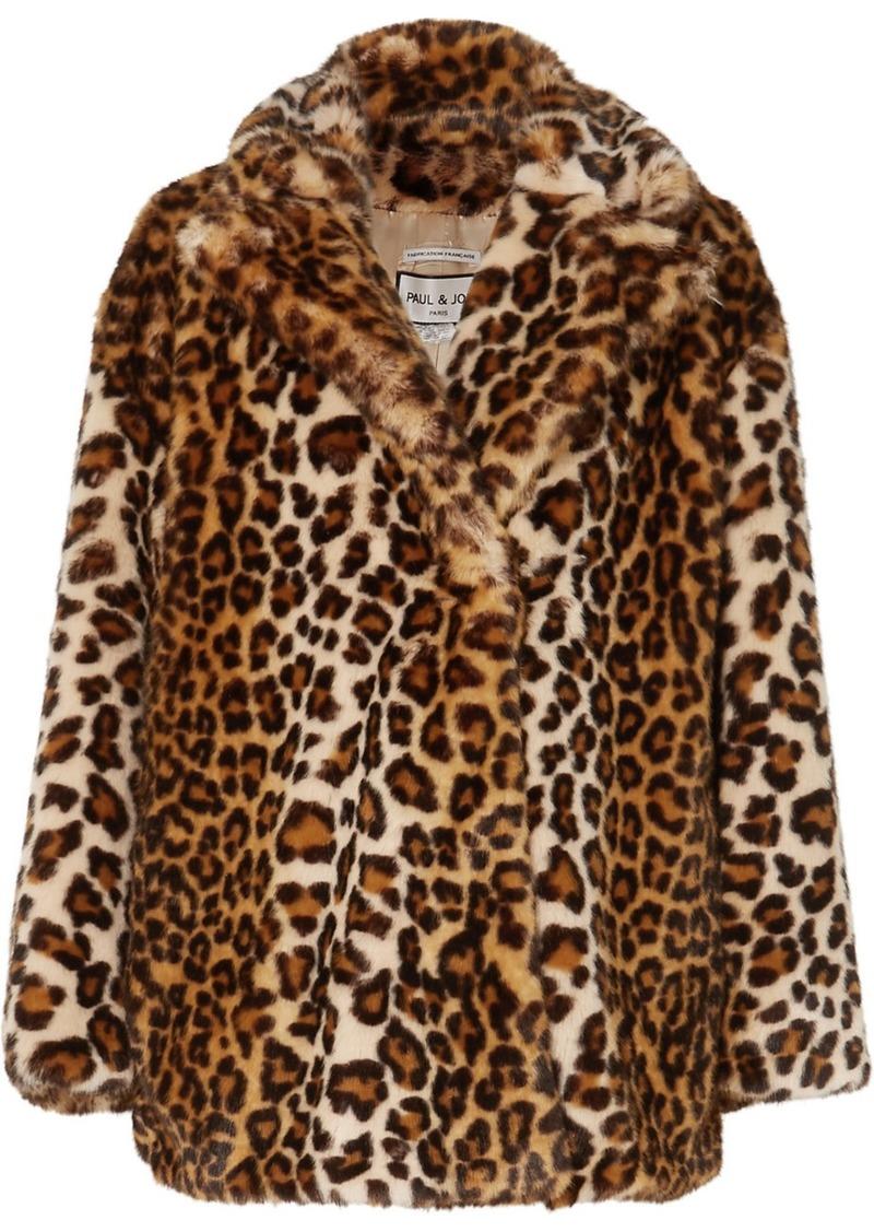 Paul & Joe Caban Leopard-print Faux Fur Coat