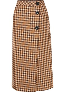 Paul & Joe Cameron Houndstooth Wool Midi Skirt