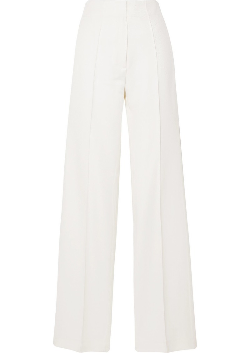 Paul & Joe Claudette Wool-blend Twill Straight-leg Pants