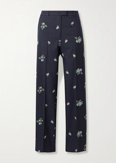 Paul & Joe Cotton-blend Floral-jacquard Straight-leg Pants