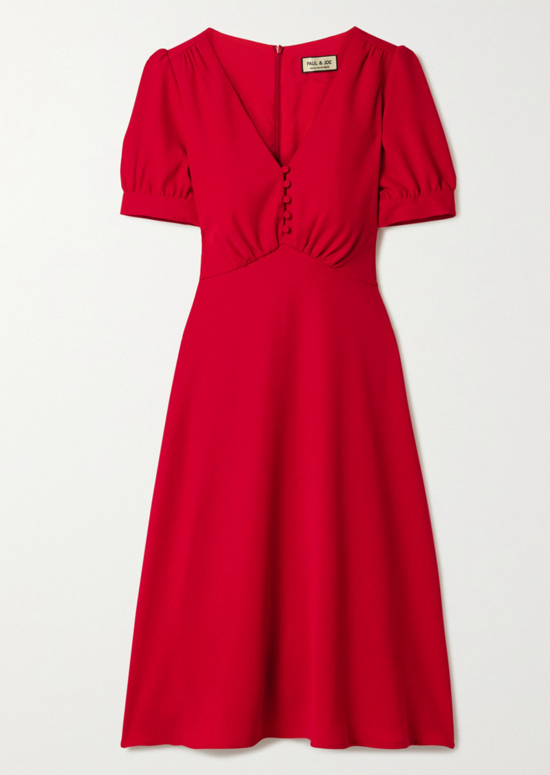 Paul & Joe Crepe Midi Dress