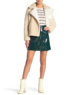 Paul & Joe Daniela Crackled Vinyl Skirt
