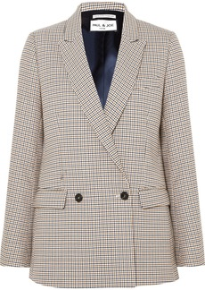 Paul & Joe Double-breasted Houndstooth Tweed Blazer