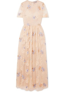 Paul & Joe Embellished Tulle Maxi Dress