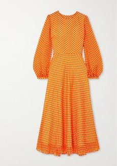 Paul & Joe Festia Polka-dot Silk Crepe De Chine Midi Dress