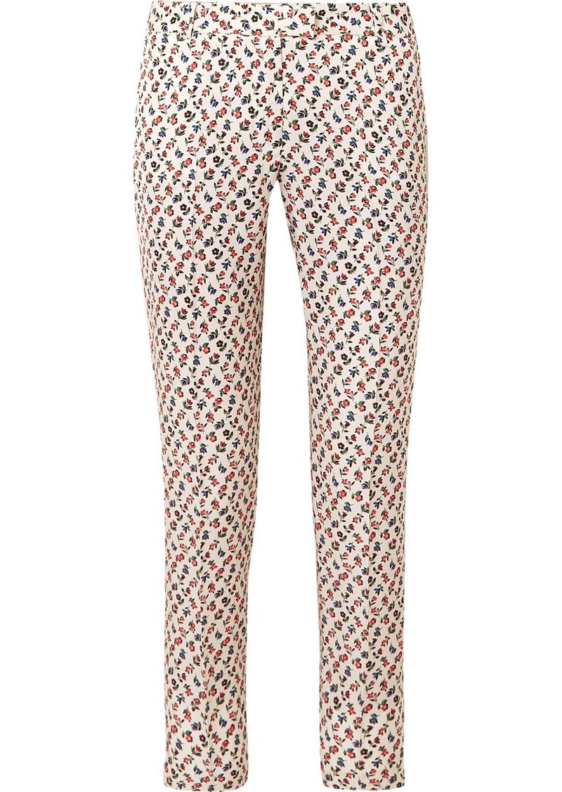 Paul & Joe Floral-print Poplin Straight-leg Pants