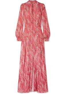 Paul & Joe Floral-print Satin Maxi Dress