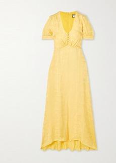 Paul & Joe Floral Satin-jacquard Dress