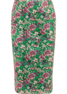 Paul & Joe Java Sequined Floral-print Tulle Midi Skirt