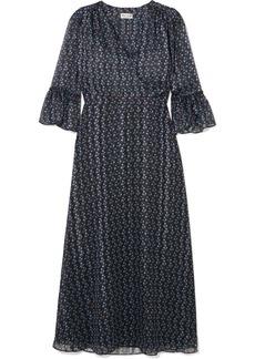 Paul & Joe Kantoinette Metallic Floral-print Chiffon Dress
