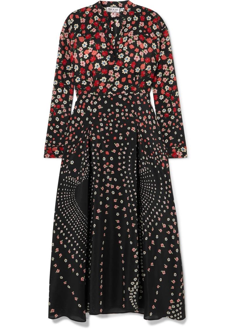 Paul & Joe Kmyosotis Floral-print Silk Dress