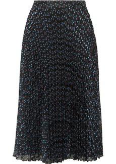 Paul & Joe Ksolare Pleated Metallic Floral-print Chiffon-jacquard Skirt