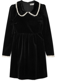 Paul & Joe Lace-trimmed Velvet Mini Dress