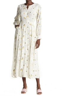 Paul & Joe Lacrima Embroidered Long Sleeve Maxi Dress