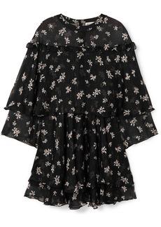 Paul & Joe Layered Floral-print Silk-chiffon Mini Dress