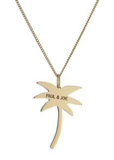 Paul & Joe Logo Palm Tree Necklace