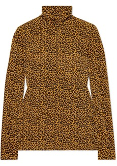 Paul & Joe Metallic Leopard-print Stretch-jersey Turtleneck Top