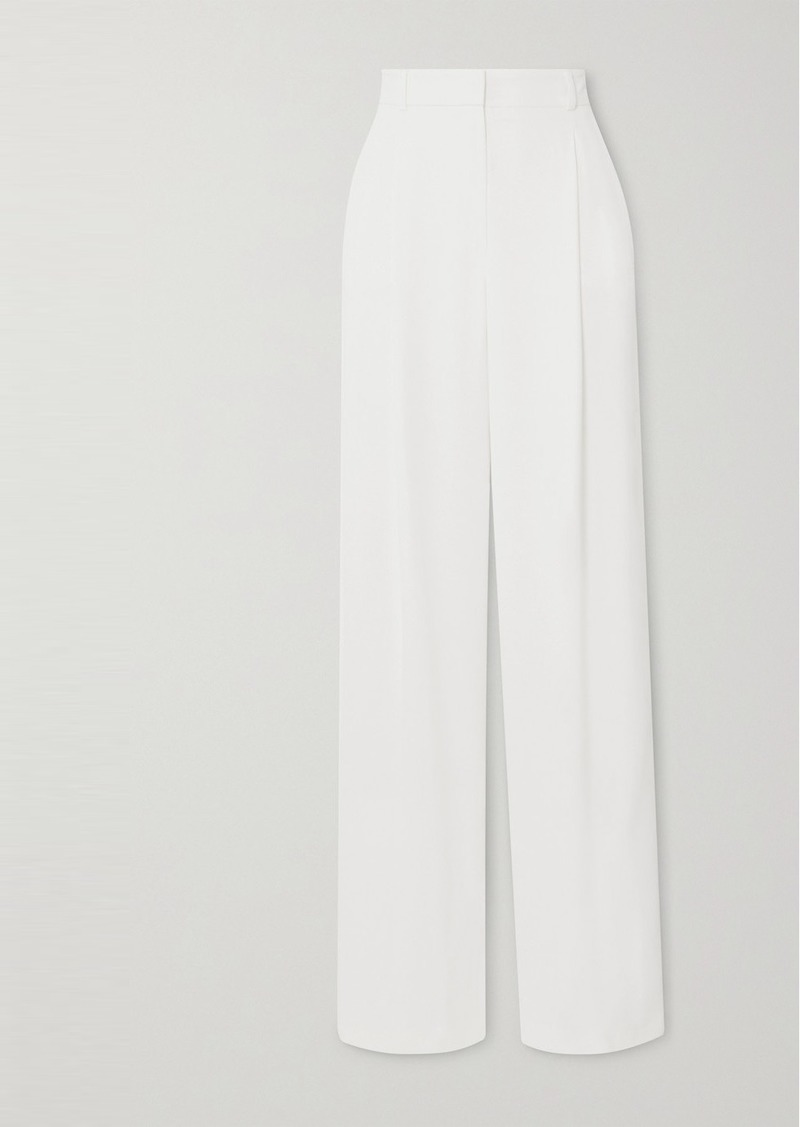 Paul & Joe Notting Hill Pleated Crepe Wide-leg Pants