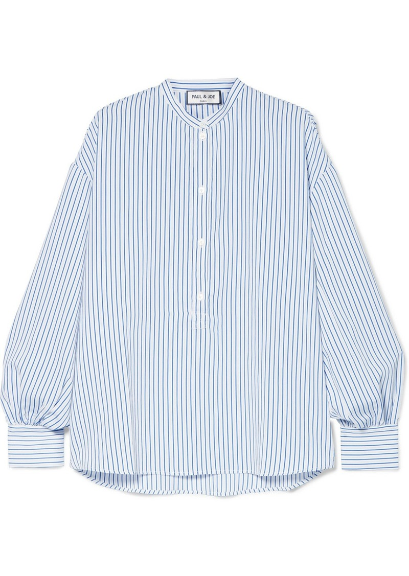 Paul & Joe Oversized Striped Woven Top