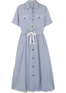 Paul & Joe Palazzo Striped Poplin Midi Dress