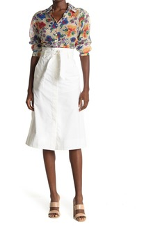 Paul & Joe Papel Waist Tie Poplin Midi Skirt