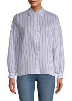 Paul & Joe Sister Daguere Silk-Blend Striped Blouse