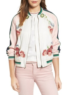 Paul & Joe Sister Les Fleurs Embroidered Bomber Jacket