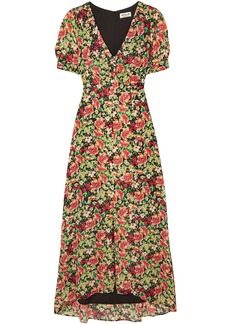 Paul & Joe Woman Blondie Floral-print Fil Coupé Jacquard Maxi Dress Black