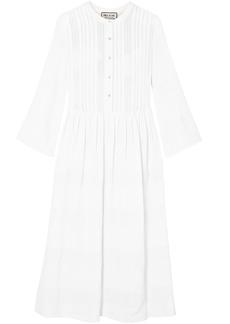 Paul & Joe Woman Cotton-blend Jacquard Midi Dress White