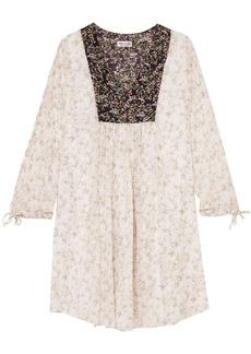 Paul & Joe Woman Fauvette Floral-print Silk-georgette Dress White