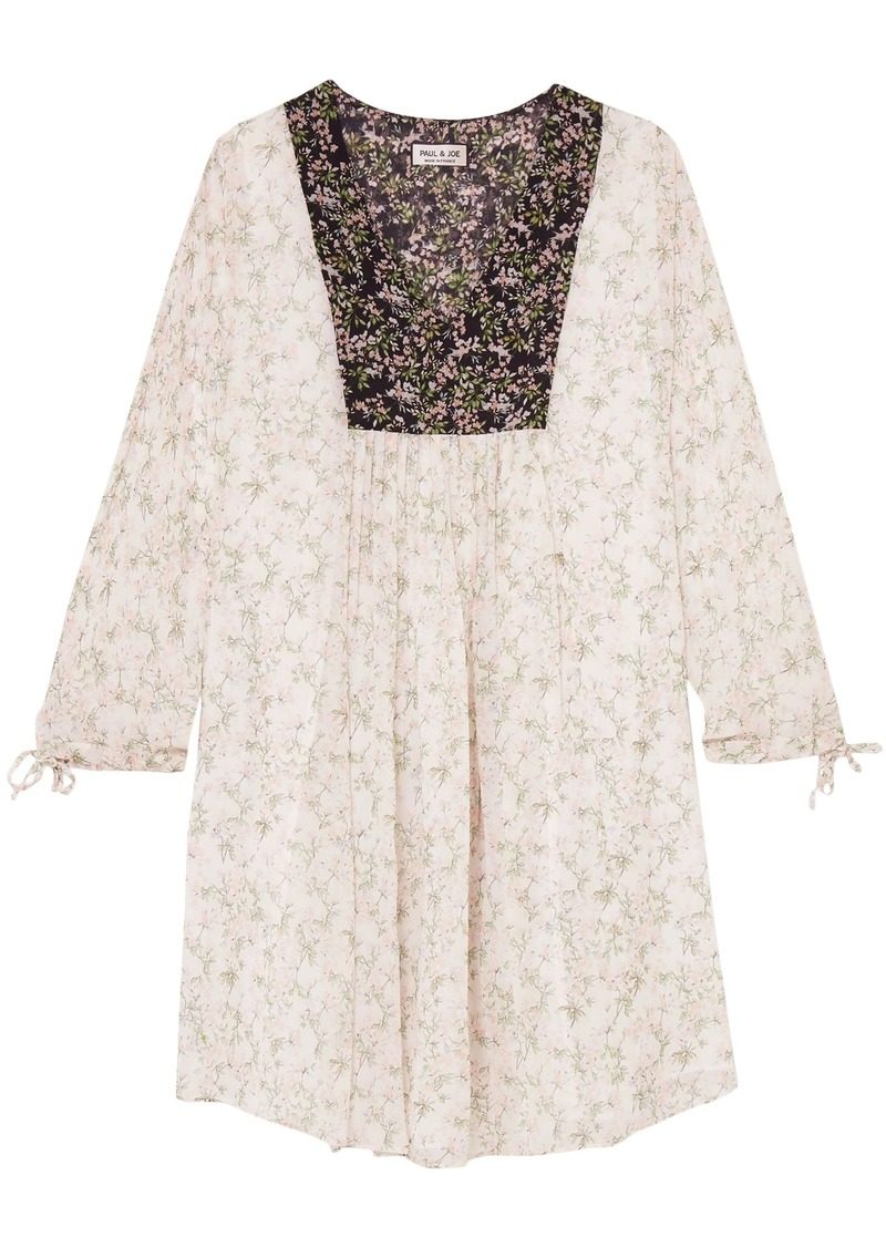 Paul & Joe Woman Fauvette Floral-print Silk-georgette Dress White