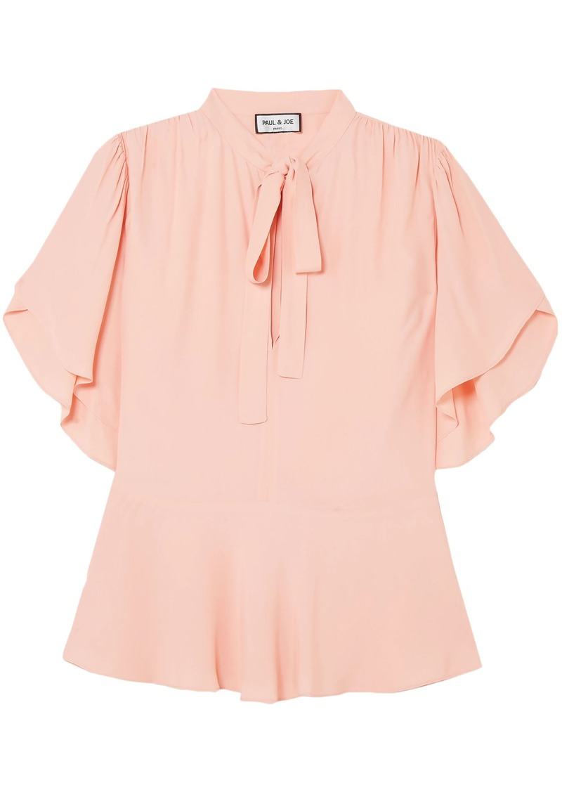Paul & Joe Woman Gathered Crepe De Chine Blouse Blush