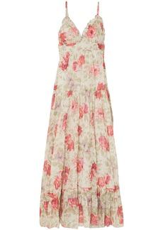 Paul & Joe Woman Ruffle-trimmed Floral-print Cotton-gauze Maxi Dress Off-white