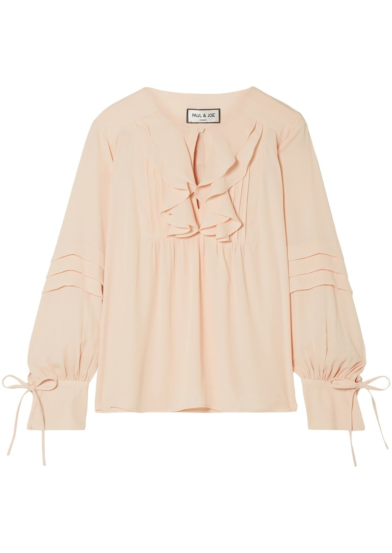 Paul & Joe Woman Ruffled Crepe Blouse Blush