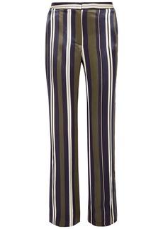 Paul & Joe Woman Striped Satin-twill Straight-leg Pants Multicolor