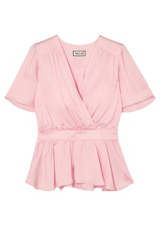 Paul & Joe Woman Wrap-effect Satin Top Baby Pink