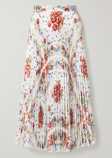 Paul & Joe Pleated Floral-print Voile Midi Skirt