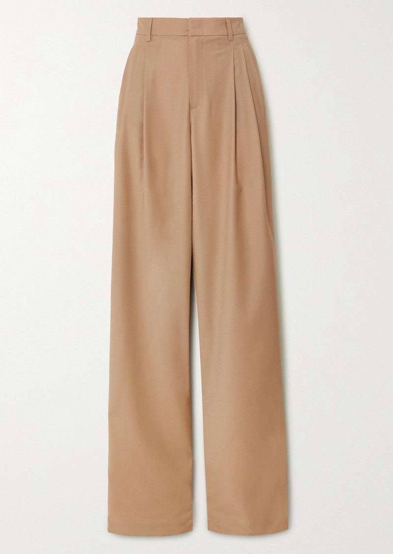 Paul & Joe Pleated Wool-blend Wide-leg Pants