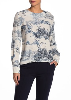 Paul & Joe Printed Crepe Blouse