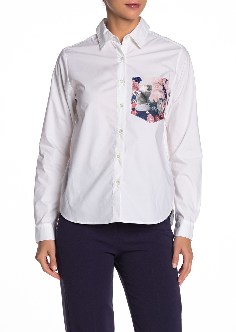Paul & Joe Printed Pocket Poplin Shirt