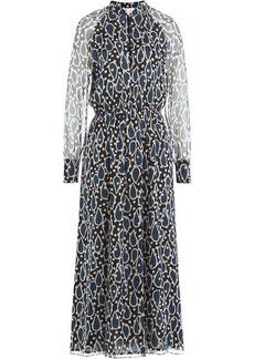 Paul & Joe Printed Silk Chiffon Midi Dress