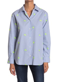 Paul & Joe Renata Floral Embroidered Gingham Tunic Shirt