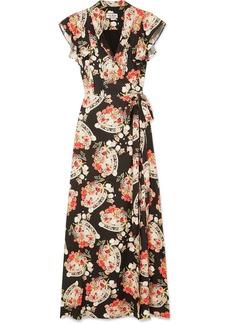 Paul & Joe Ruffled Floral-print Crepe Wrap Midi Dress