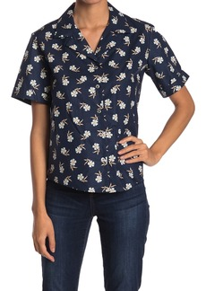 Paul & Joe Sabine Daisy Button Front Poplin Shirt